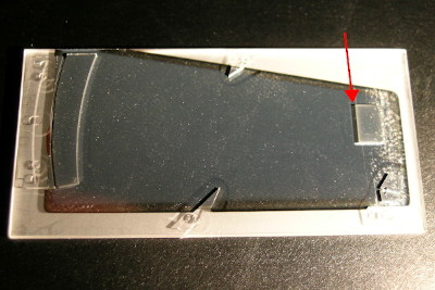 LIGA-Mikrospektrometer with 40° coupling-out mirror